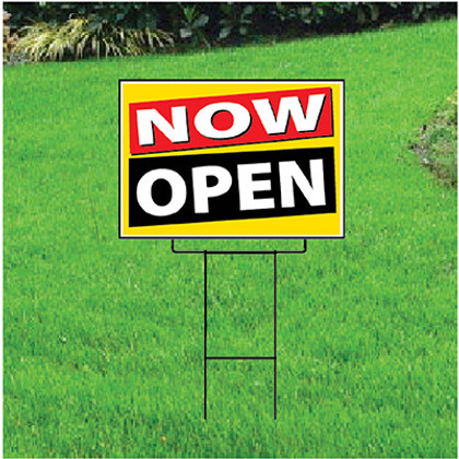 Now Open Sign - Festive