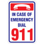 """Emergency Dial 911 Sign - 12"""" x 18"""""""