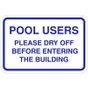 "Please Dry Off Sign - 18"" x 12"""