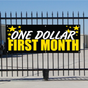 One Dollar First Month Banner - Celebration