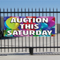Auction This Saturday Banner - Balloons