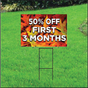 50 Percent Off First Three Months Sign Self Storage - Fall