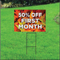 50 Percent Off First Month Sign Self Storage - Fall