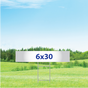 "6"" x 30"" Yard Signs - Single Sided"