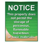 No Hazardous Materials Sign - Jenkins