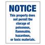 No Hazardous Materials Sign