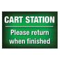 Cart Station Sign