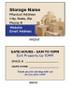 Self Storage Business Cards