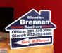 Open House Arrow Sign - Brennan Realtors