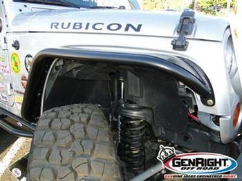 GenRight Front Tube Fenders - Bare Steel