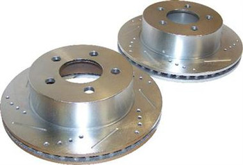 Jeep Drilled and Slotted Rotor Set