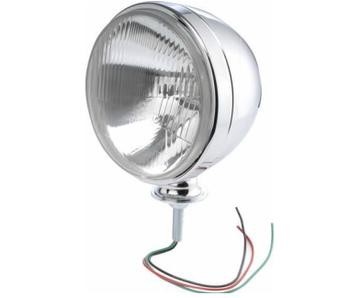 """Chrome Headlight, 7"""" with H4 55/60W Bulb, Each"""