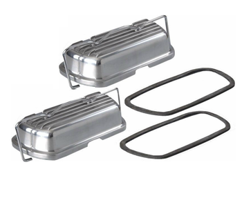 Finned Aluminum Valve Covers with Bails and Gaskets