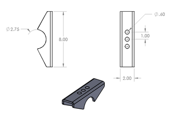Early Jeep Narrow width Perches (CJ & M Series) by RuffStuff