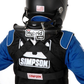 Simpson Hybrid Pro Rage Youth Neck Neck Restraint System With Sliding Helmet Tether And SAS