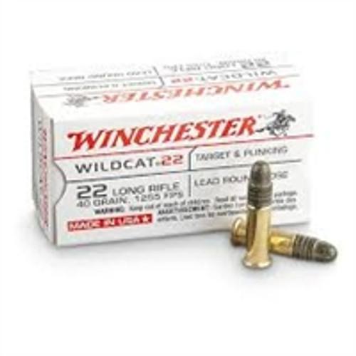 Winchester 22LR Ammunition Wildcat WW22LR 40 Grain Lead Round Nose 5000 rounds