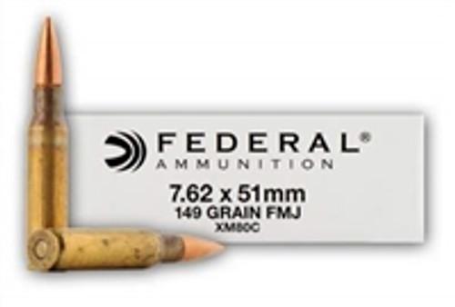 Federal 7.62 NATO XM80C 149 Grain FMJ 500 rounds