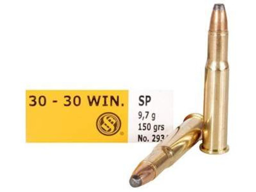 Sellier & Bellot 30-30 Win Ammunition 150 Grain Soft Point SB3030A 500 Rounds