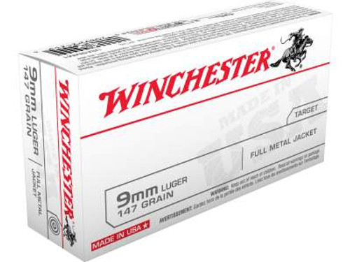 Winchester 9mm Ammunition Best Value USA9MM1 147 Grain Full Metal Jacket Case of  500 Rounds