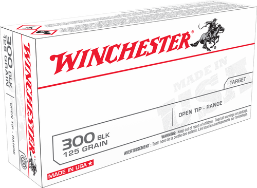 Winchester 300 AAC Blackout Ammunition Best Value USA300BLK 125 Grain Full Metal Jacket Case of 200 Rounds