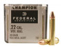 Federal 22 Win Mag Ammunition Champion F737 40 Grain Full Metal Jacket Case of 3,000 Rounds