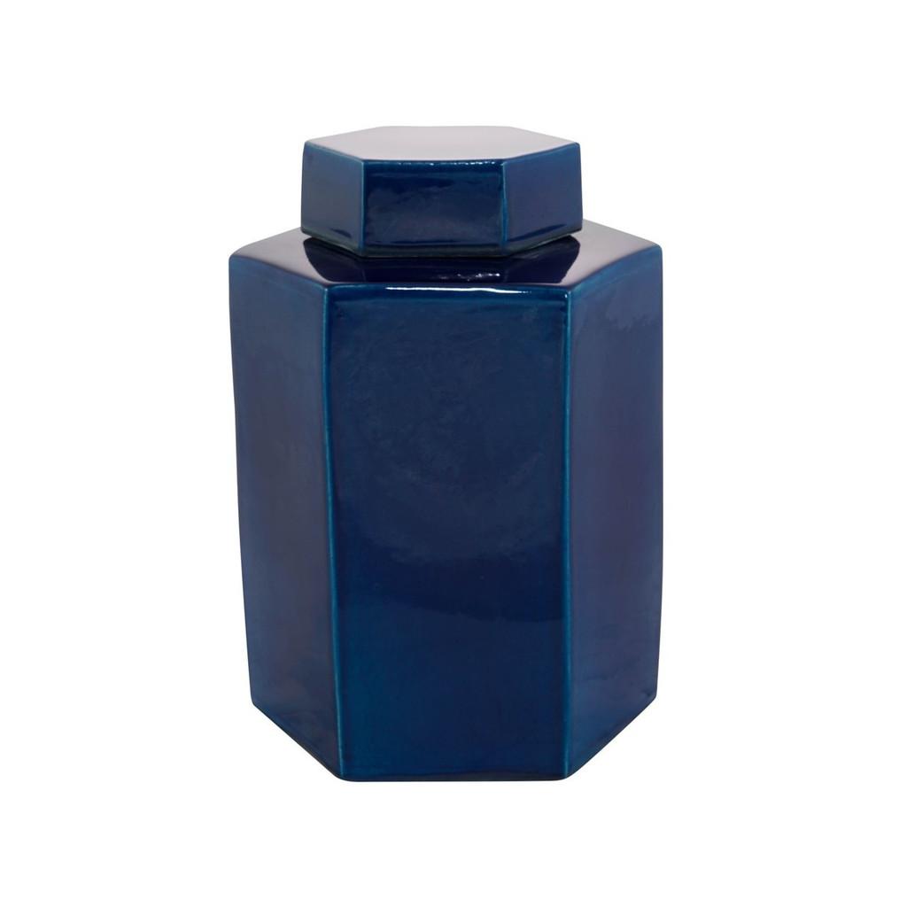 Hex Tea Jar 11H - Turquoise