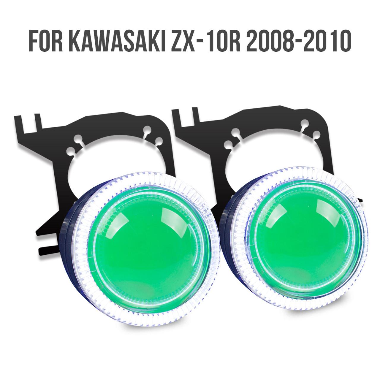 Kawasaki Zx 10r Hid Projector Kit 2008 2009 2010 Wiring Harness For 636