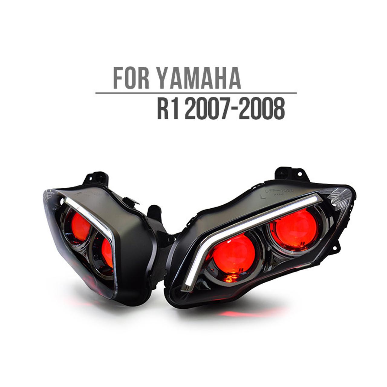 Yamaha YZF R1 LED & HID headlight 2007 2008
