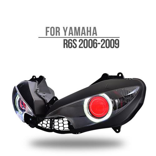 Fit for Yamaha R6S 2006-2009 LED Angel Eye Headlight Assembly V1-B