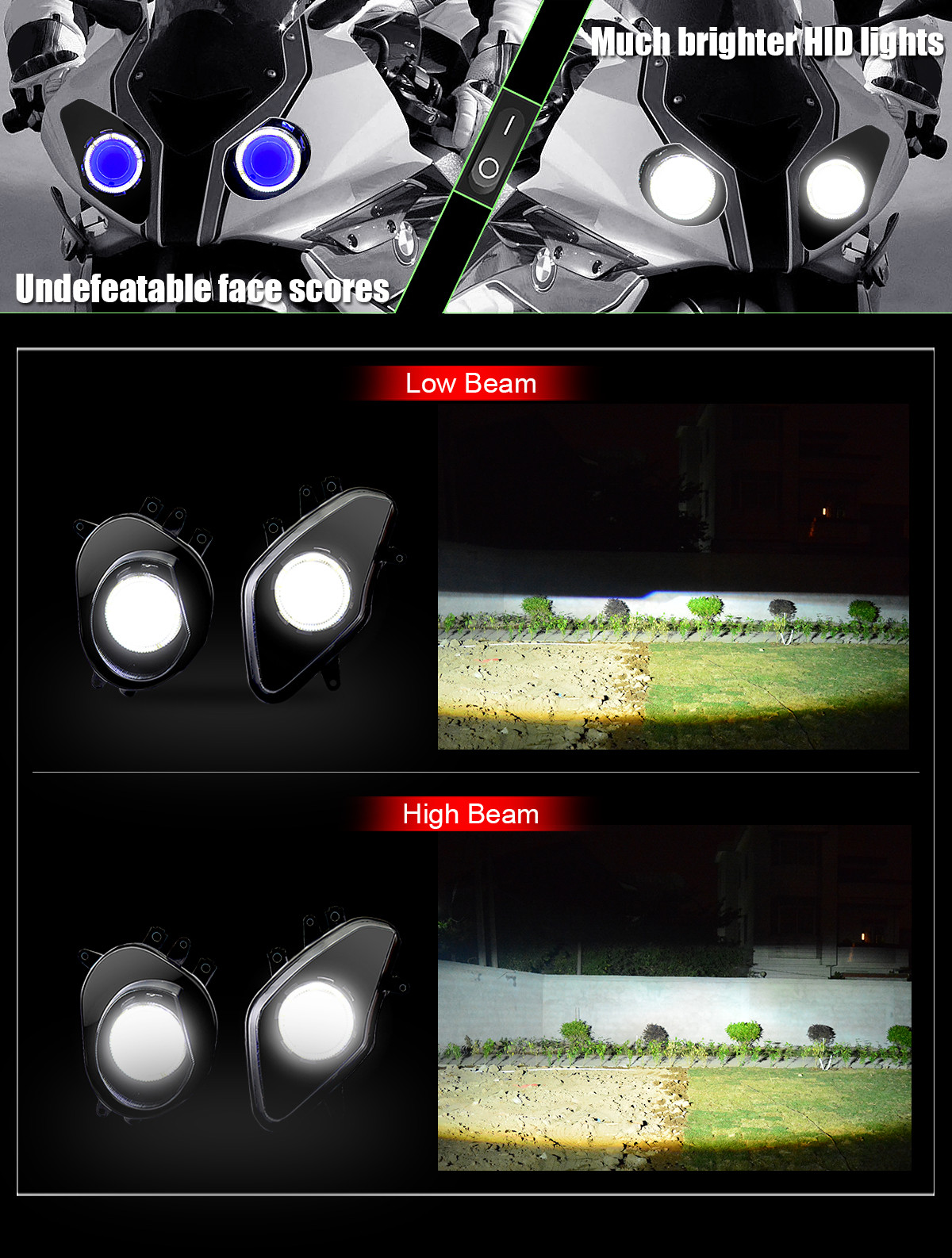 2013 2014 BMW HP4 headlight assembly