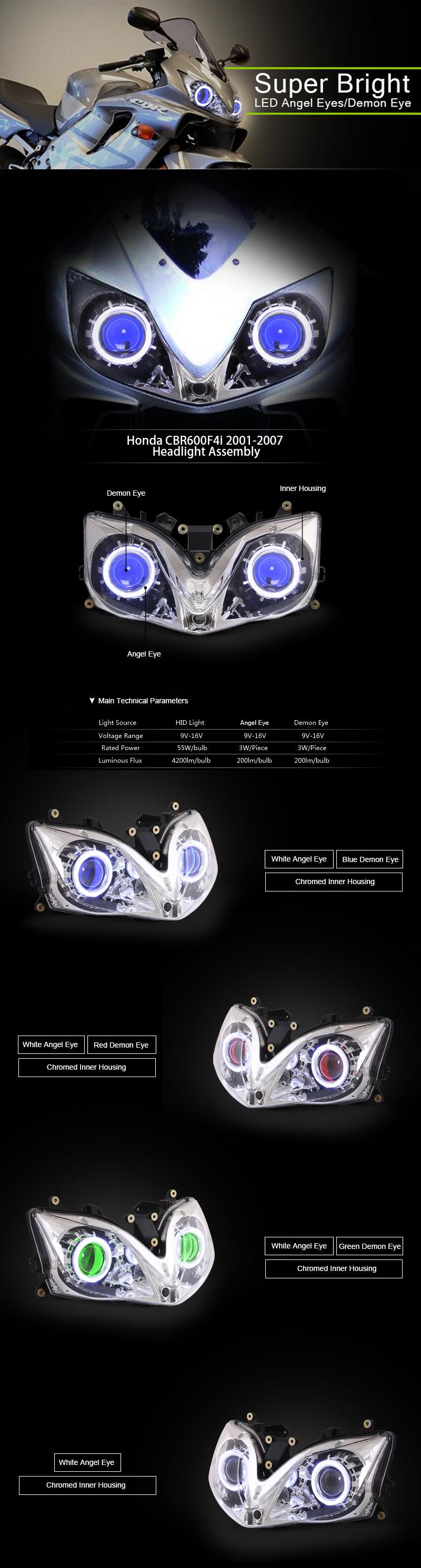 Honda CBR600F4i Headlight 2001-2007