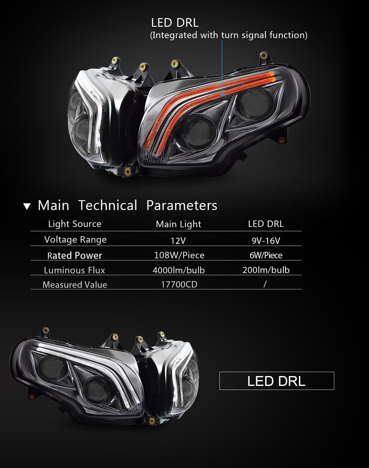 Honda GoldWing GL1800 2010 2012 2013 2014 2015 2016 2017 LED Headlight