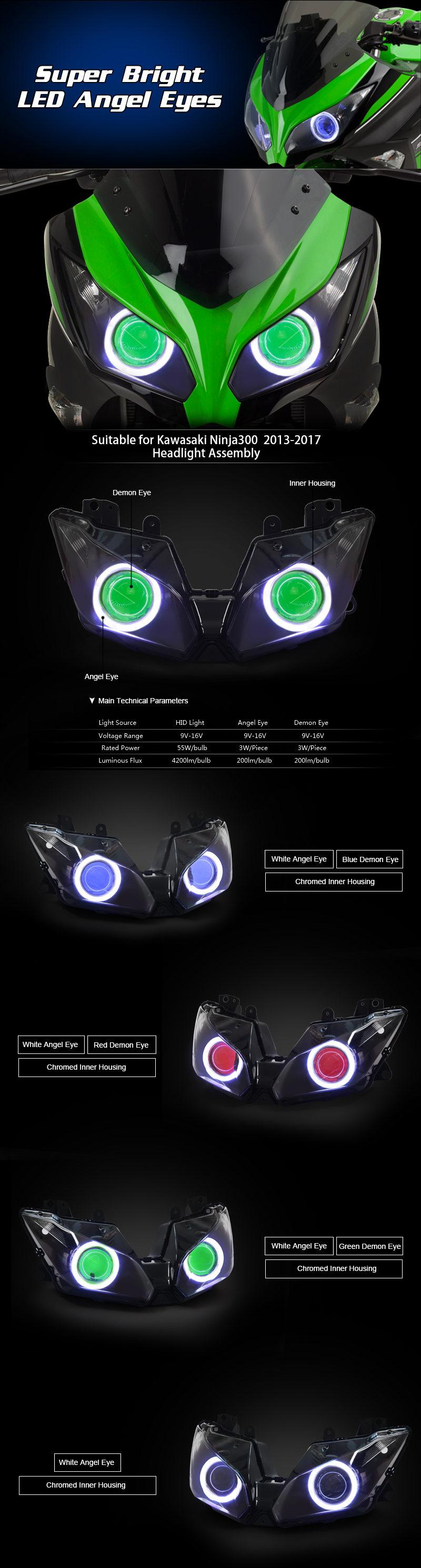 Ninja300 Headlight 2013 2014 2015 2016 2017