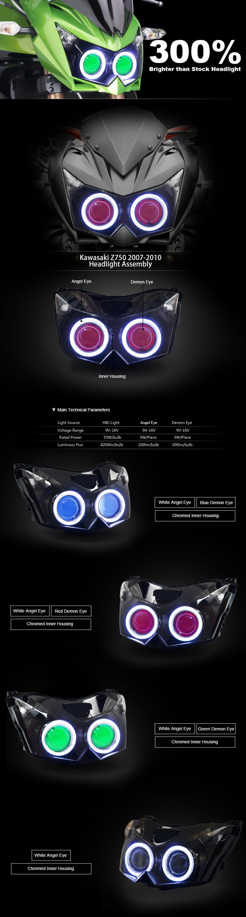 Z750 Headlight 2007 2008 2009 2010