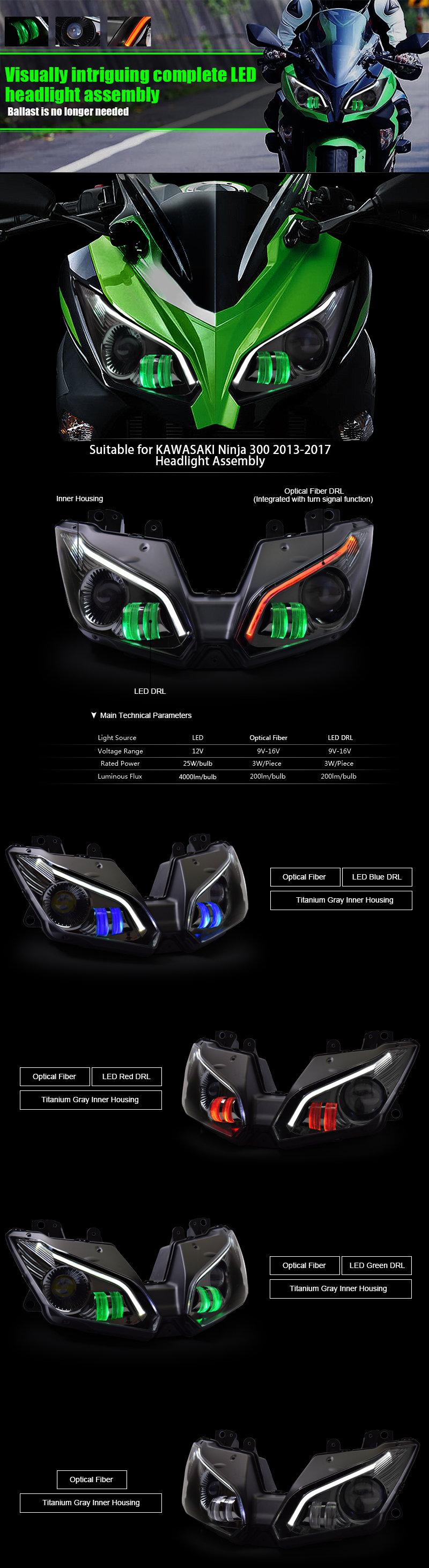 Kawasaki Ninja300 Headlight 2015 206 2017
