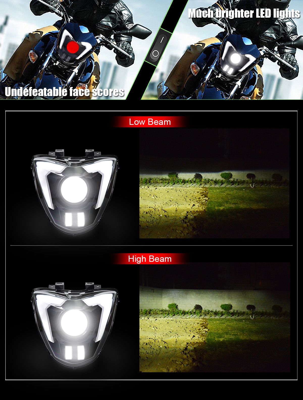 GSR250 LED headlight