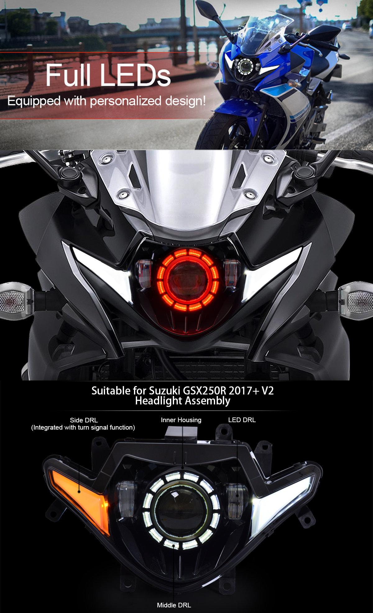 Suzuki GSX250R Headlight 2017