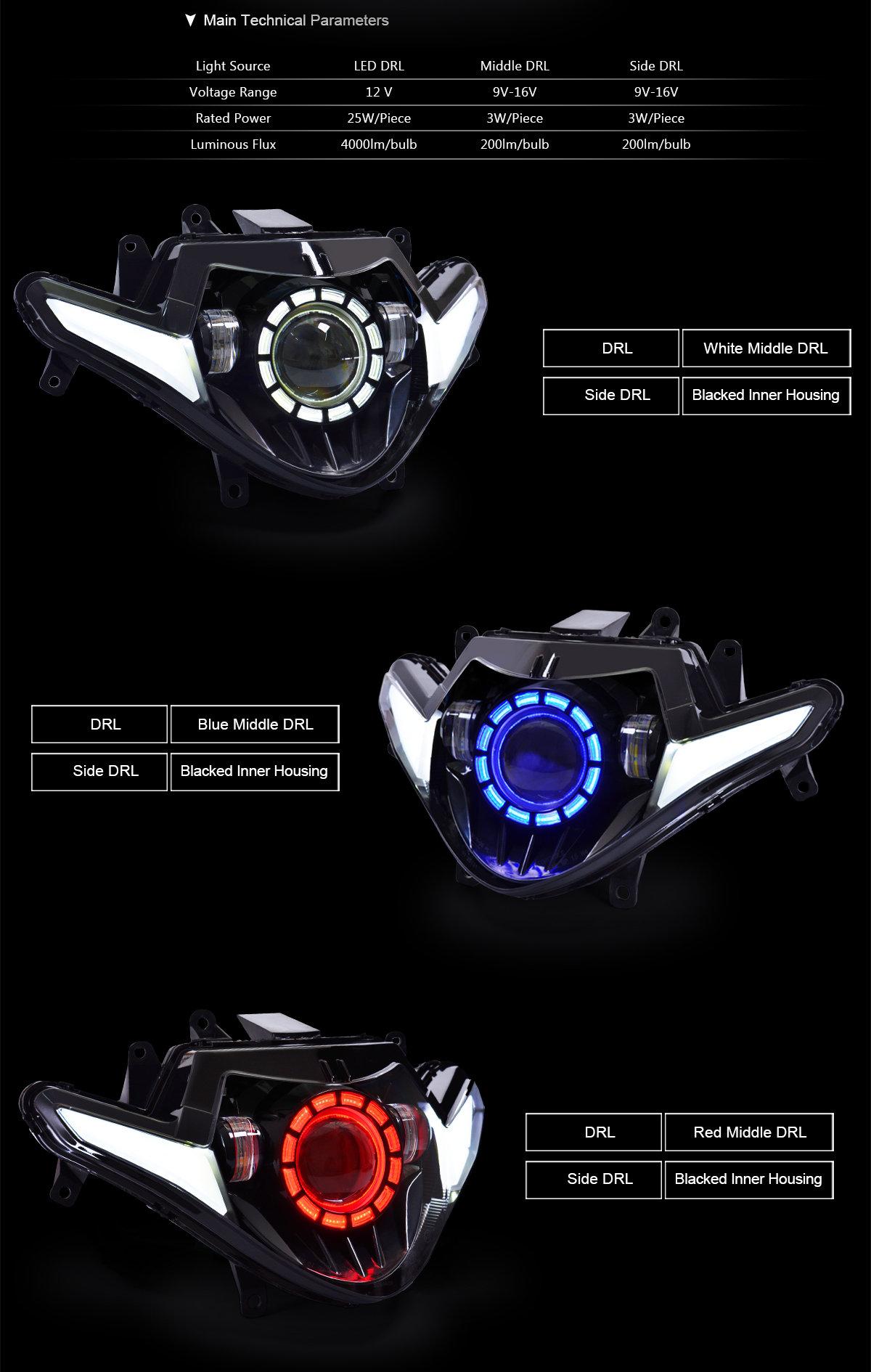 GSX250R LED Headlight 2017 2018