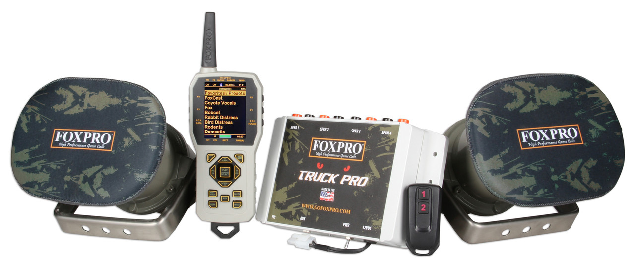 FOXPRO Truck Pro - FREE Custom Sound Programming   AllPredatorCalls.com