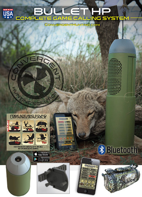 Convergent Hunting Solutions Bullet HP COMPLETE Game Calling System BHP-400-Kit
