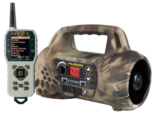 FOXPRO Fusion with 100 Custom Sounds in Kryptek Highlander Camo with TX1000 Remote Control
