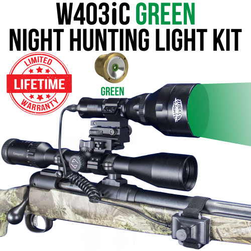 Wicked Lights W403iC Green Night Hunting Light Kit thumbnail
