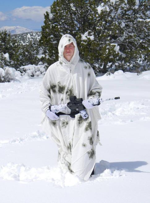 German Military Winter Snow Camo Cape Poncho Hd0002