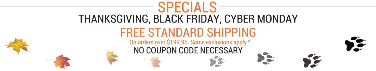 Thanksgiving, Black Friday, Cyber Monday Specials