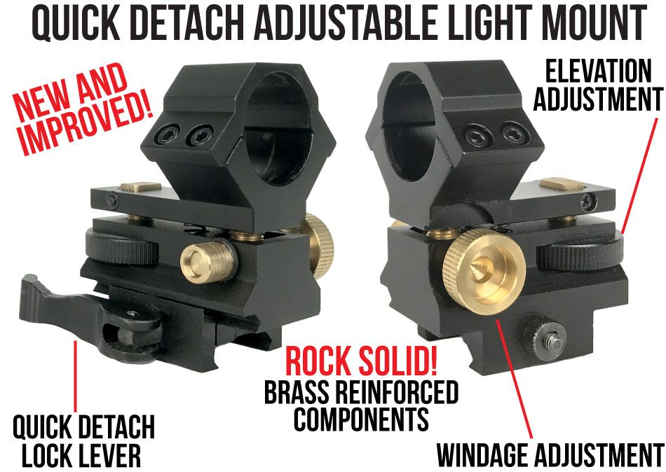 Wicked Lights Quick Detach Adjustable Light Mount Features