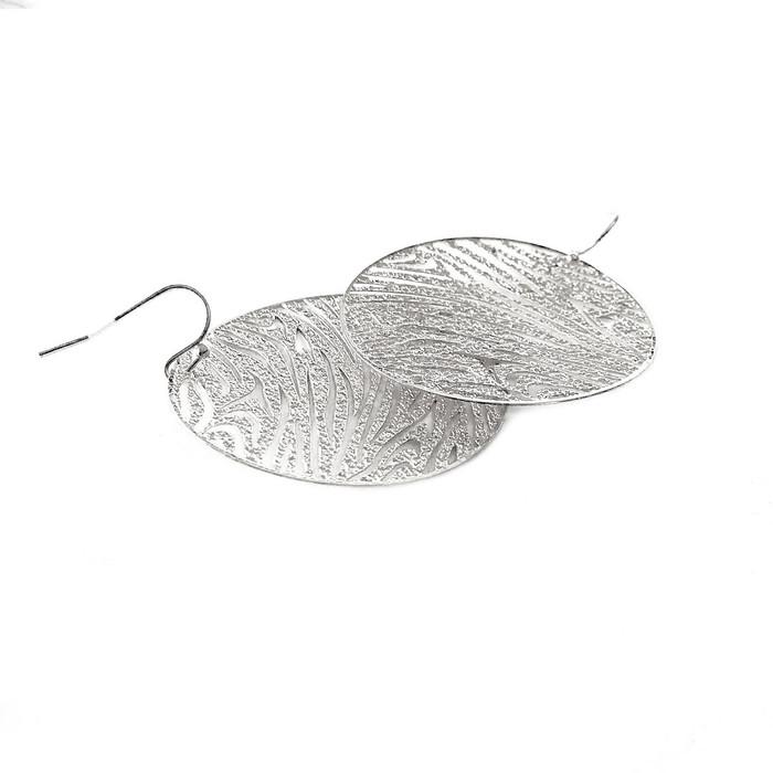 Feather-Light Silver Tiger/Zebra-Stripe Earrings