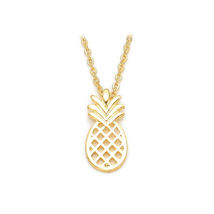 Mini Golden Pineapple Necklace