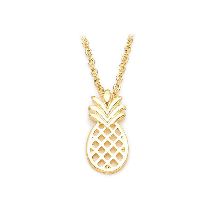 Mini Golden Pineapple Necklace
