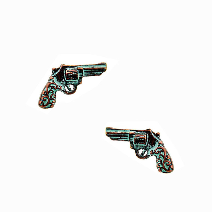 Patina Revolver Post Earrings