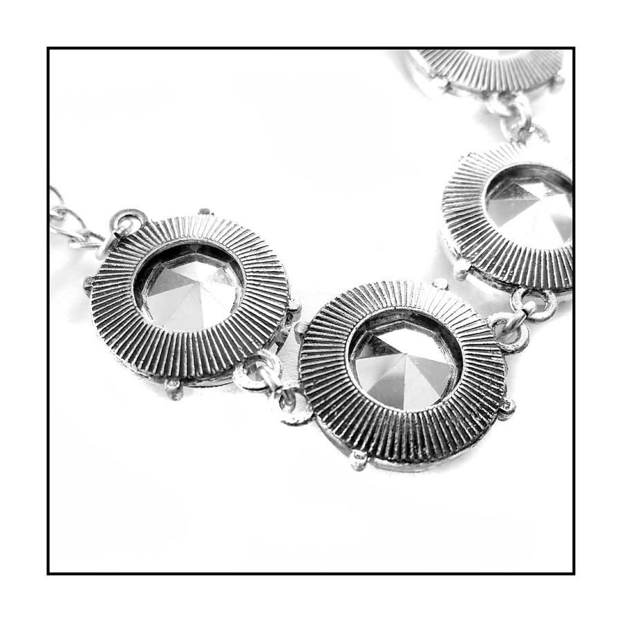 Smoky 7-Crystal Bracelet